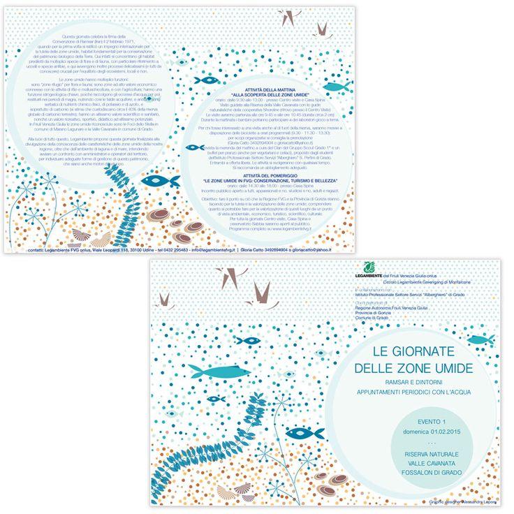 Le giornate delle aree umide - Progetto grafico Days of wetlands - Graphic design 2015
