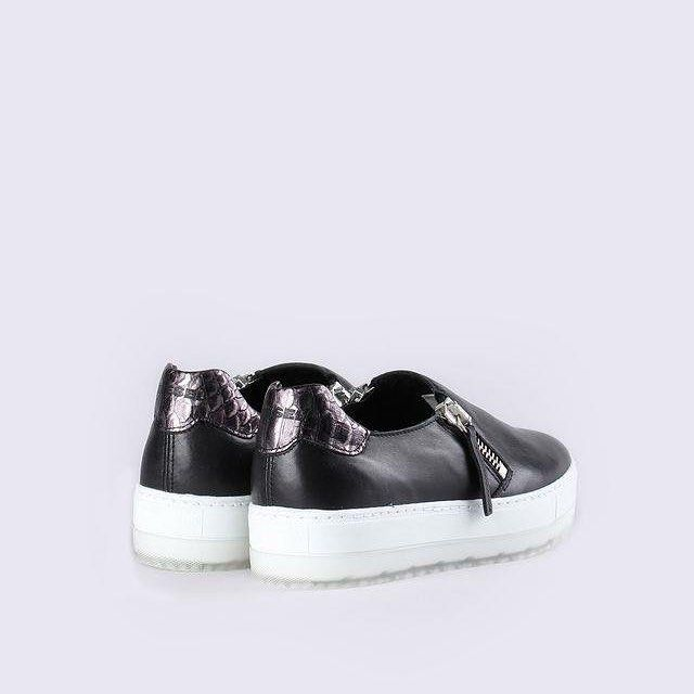 Go for modern rebel cool in these block platform, double zip sneakers by Diesel - available in black or white. #loveshoes #diesel