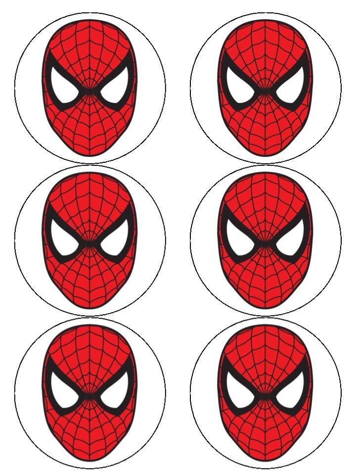 It is an image of Massif Spiderman Mask Printable