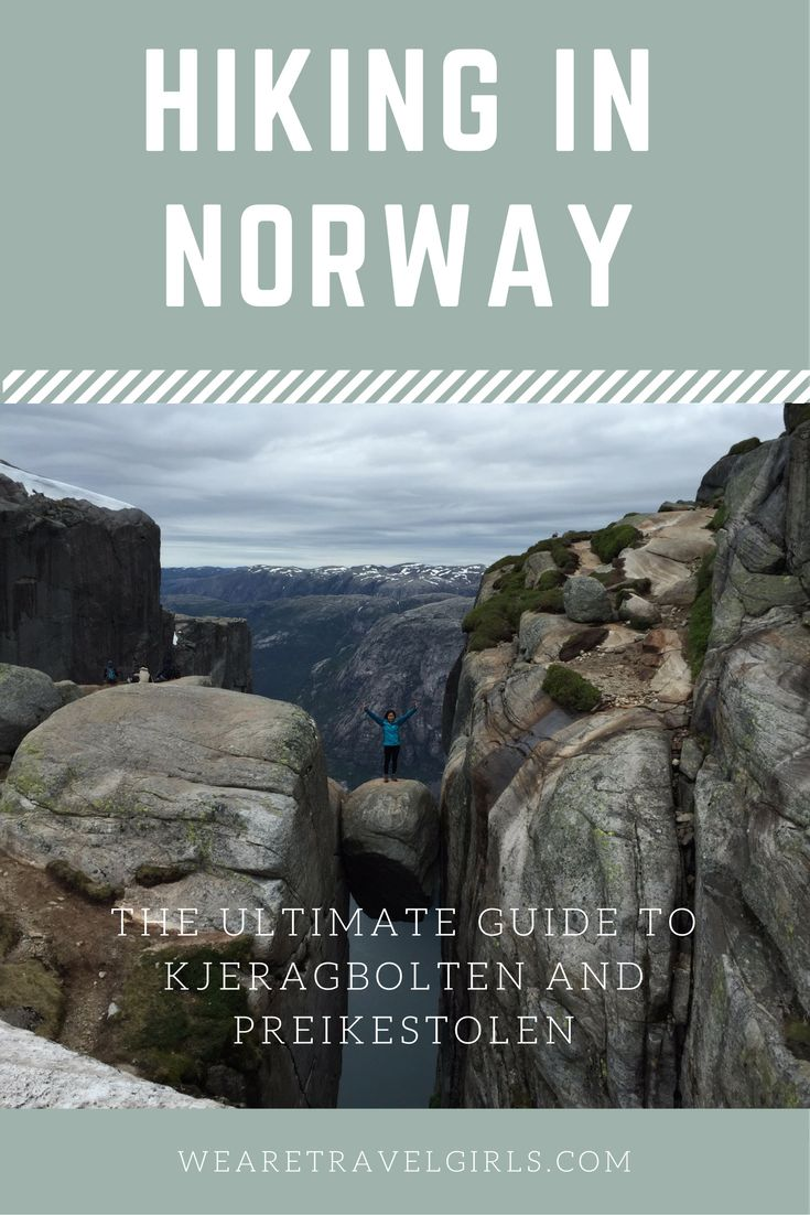 TOP TIPS FOR HIKING IN KJERAGBOLTEN AND PREIKESTOLEN, NORWAY Norway is home to some amazing hikes with the most famous ones being: Kjeragbolten and Preikestolen (the Pulpit Rock). These two spots are firmly placed on many travellers bucket lists and I was fortunate enough to manage both hikes on a weekend trip. In this post I share my key tips to help you in planning your own trip to Norway and hiking to these incredible spots! By Yoon Um for WeAreTravelGirls.com