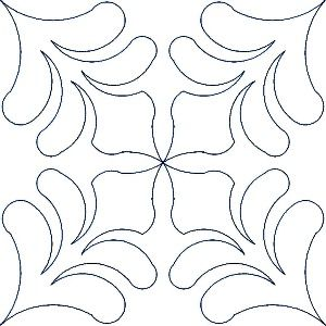 machine quilting patterns NOTE If turned with point up this would make a great applique border on a hem of a dress or a coat.