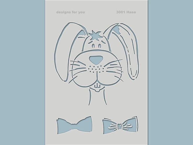 Schablonen - Schablone 3001 Hase - ein Designerstück von designs-for-you bei DaWanda