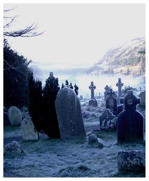Frosty tombstones