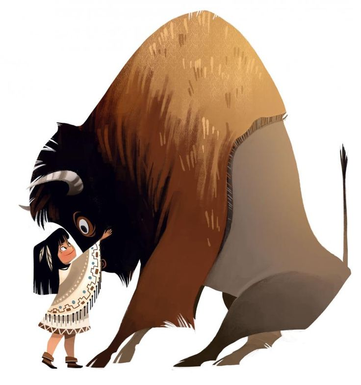 Lissy Marlin Girl And Buffalo  ★ || CHARACTER DESIGN REFERENCES (https://www.facebook.com/CharacterDesignReferences & https://www.pinterest.com/characterdesigh) • Love Character Design? Join the #CDChallenge (link→ https://www.facebook.com/groups/CharacterDesignChallenge) Share your unique vision of a theme, promote your art in a community of over 25.000 artists! || ★