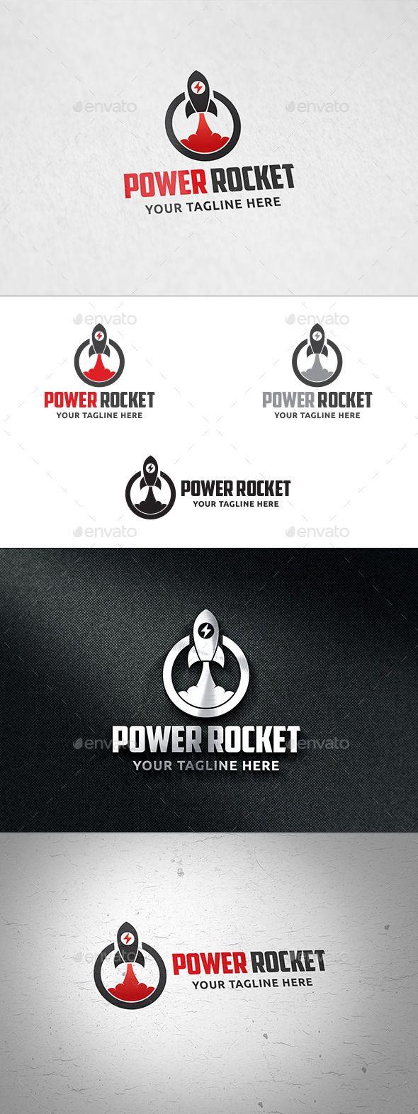 Power Rocket  Logo Templates — Vector EPS #explore #web rocket • Available here → https://graphicriver.net/item/power-rocket-logo-templates/12376119?ref=pxcr