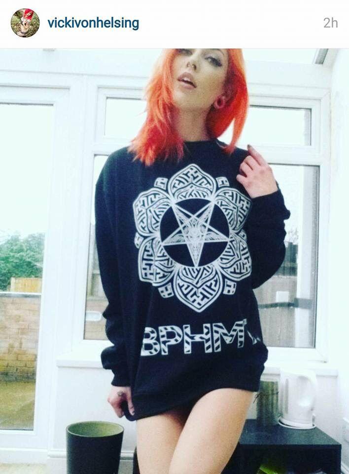 """Baphomet Lotus"" Unisex Sweatshirt - available at www.crmc-clothing.co.uk   WE SHIP WORLDWIDE Model - @vickivonhelsing #tattooedwomen #girlswithtattoos #hot #alternative #alternativeteen #altgirl #alternativegirl #occult #Baphomet #pentagram #fashionstatement #altfashion #instafashion #fashiongram #fashionista #fashionoftheday #picoftheday #photooftheday #Satan #stylegram #stylefashion #igers #love #beautiful #fashion #instagood #instastyle #instalike #instadaily"
