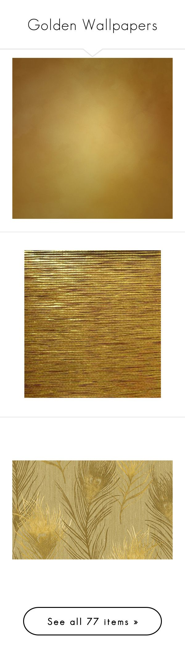 """""""Golden Wallpapers"""" by lailoooo ❤ liked on Polyvore featuring home, home decor, wallpaper, wallpaper samples, stripe wallpaper, brown textured wallpaper, asian wallpaper, brown striped wallpaper, gold stripe wallpaper and metallic wallpaper"""