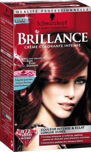 Schwarzkopf Brillance - Coloration Permanente - Rouge Intense 872 #Schwarzkopf #Brillance #Coloration #Permanente #Rouge #Intense
