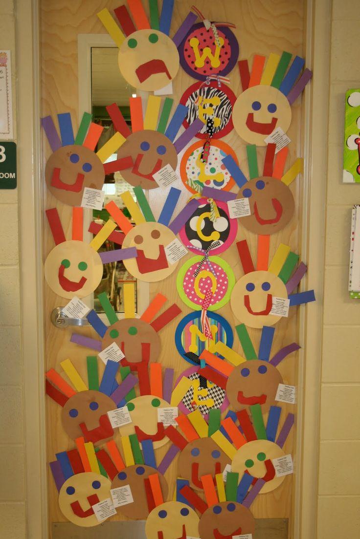 Creamos caras para decorar la clase, la pared...