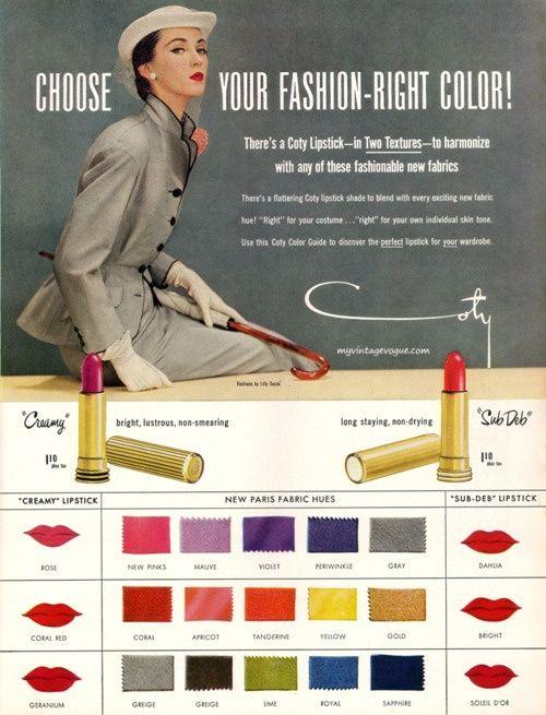 Vintage make up 1950s Coty advert