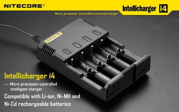 Specifications: Input voltage: AC 110~240V 50/60HZ or DC 12V Input power: 10W Output voltage: 4.2V ¶ñ1% / 1.48V ¶ñ1% Output current: 375mA Ç_ 4 / 750mA Ç_ 2 Dimensions: 139mm Ç_ 96mm Ç_ 36mm Weight: 156g (without batteries and power cord) Compatible with: Li-ion: 26650, 22650, 18650, 17670, 18490, 17500, 17335, 16340 (RCR123), 14500, 10440 Ni-MH / Ni-CD: AA, AAA, C Does not include auto/car adapter  #hidcanada