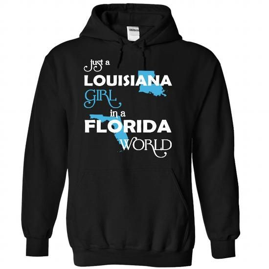 (LAXanh001) Just A Louisana Girl In A Florida World - #softball shirt #tshirt bag. GUARANTEE => https://www.sunfrog.com/Valentines/-28LAXanh001-29-Just-A-Louisana-Girl-In-A-Florida-World-Black-Hoodie.html?68278