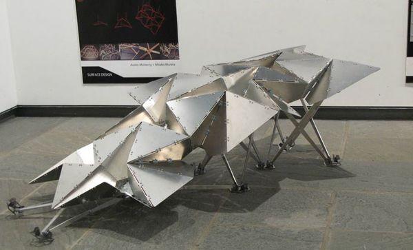 Labstudio jenny sabin aluminum triangular structure for Triangular structures in architecture
