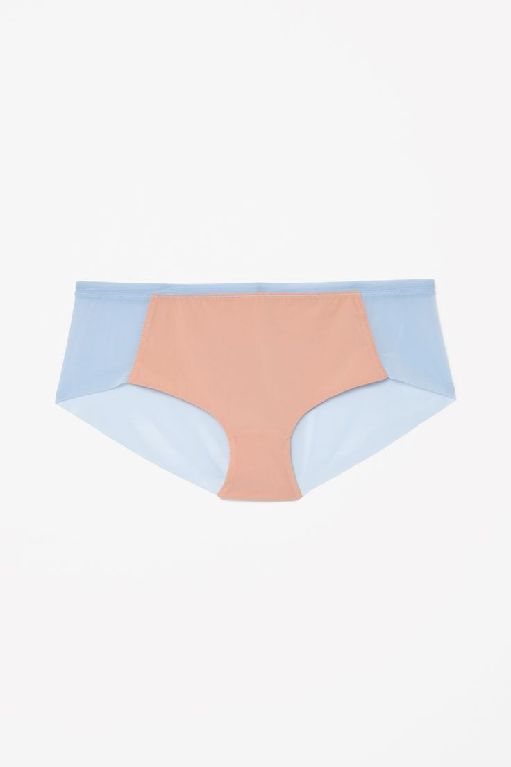 COS image 1 of Contrast panel knickers in Cornflower Blue