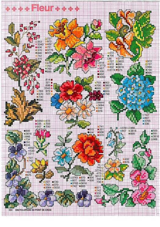 Lots of different flowers #crossstitch  Gallery.ru / Фото #1 - крошки - irisha-ira #cross stitch