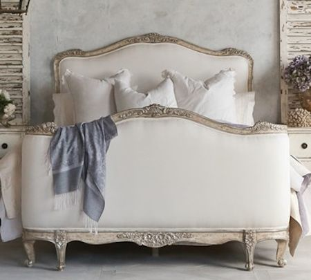 gorgeous #silver and #white bed  http://rstyle.me/n/y879pdpe