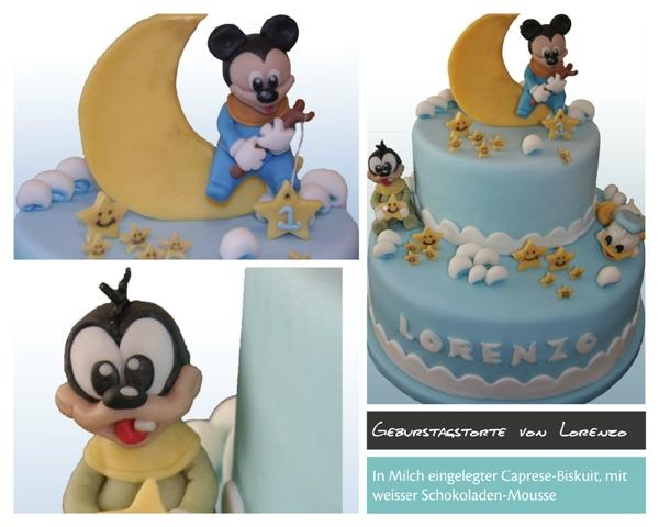 Birthday cake micky mouse in blue