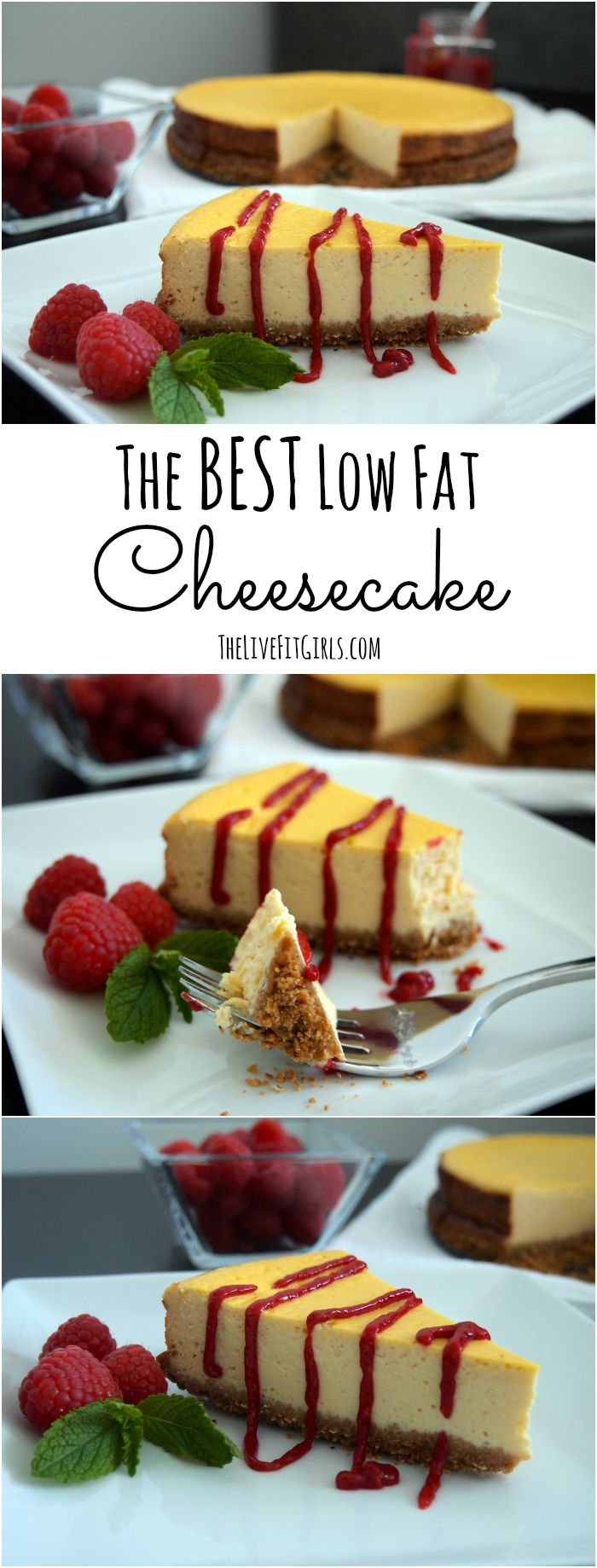 This is THE BEST Low-Fat Cheesecake recipe EVER - with only 150 calories per slice you cannot go wrong with crowd-pleasing recipe!