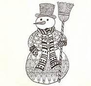 Zentangle Snowman - Bing Images