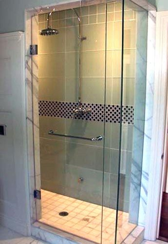 Frameless Shower Door With Towel Bar Az Home Remodel In