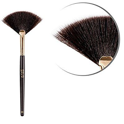 Bronzer Fan Makeup Pinsel - B6 vegan professionelle beständige Synthetische Haar Fasern Shimmering Brush - Perfekt zum einfachen Auftragen von Mineral Bronzer Schimmer Puder