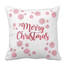 "Merry Christmas Pillow - 16"" x 16"""