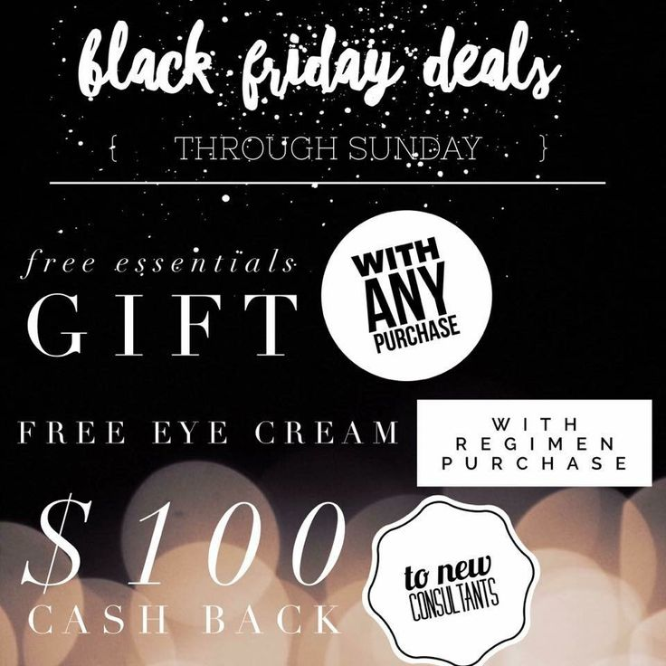 Rodan+Fields Black Friday deals! Today through Sunday! Message me for more info!