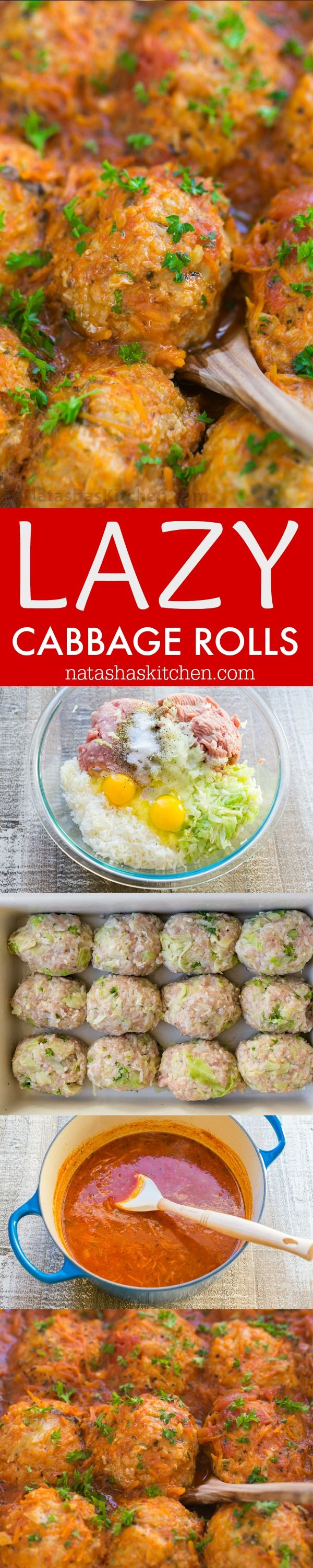 This lazy cabbage rolls recipe gives you the same great flavors of stuffed cabbage with much less effort. Lazy cabbage rolls are so juicy and comforting   natashaskitchen.com
