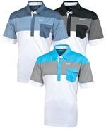 AUR | Mens Golf Shirts | Color Block Polo