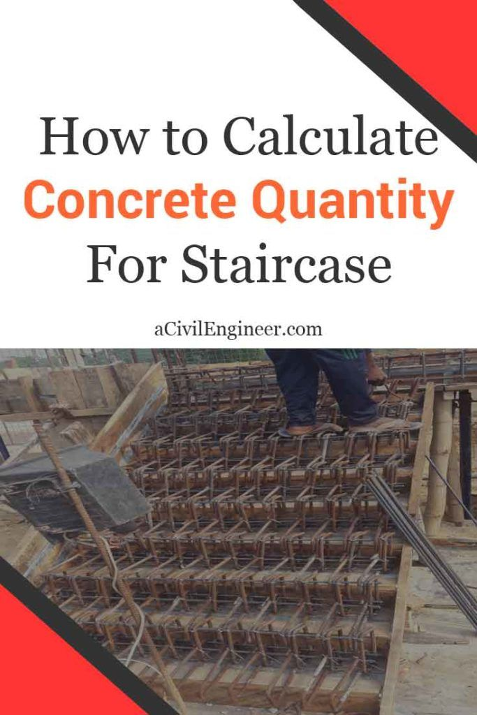 How To Calculate Concrete Quantity For Staircase A Civil Engineer Concrete Staircase Concrete Steps