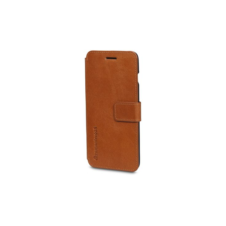 The Frederiksberg leather wallet, from dbramante1928, with it's elegant, timeless design protects your iPhone 6 or iPhone 6 Plus. The case folds in a notebook style and fastens with a magnetic leather tab. Here shown in Golden Tan.