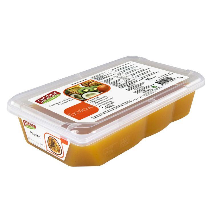 Κατεψυγμένος πουρές με γεύση φρούτα του πάθους (passion fruit) της εταιρείας Sicoly στην Ελλάδα από τη Granikal.