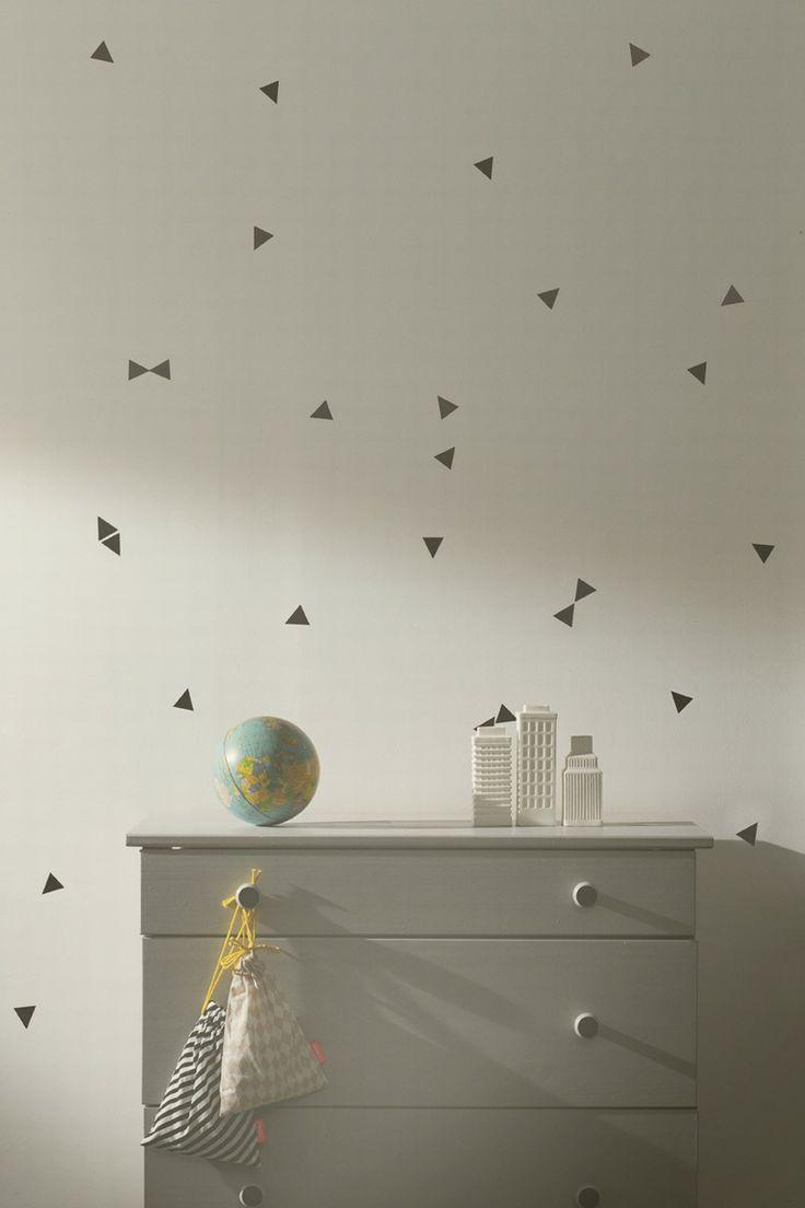 Ferm Living Mini Triangle - Black Wall Stickers
