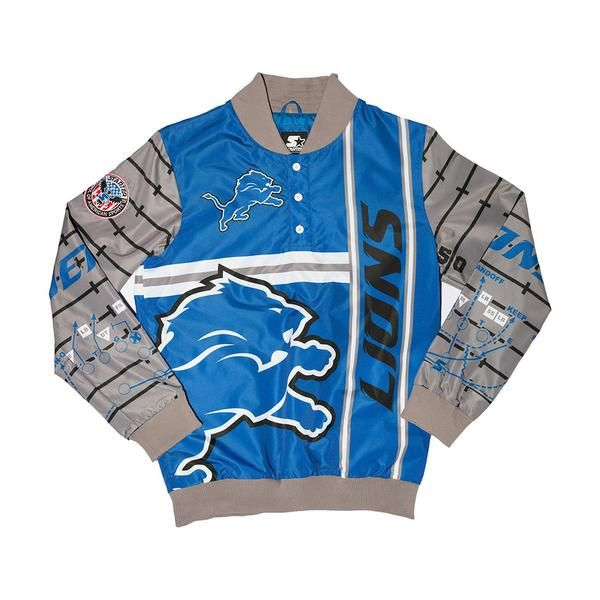 In recognition of the NFL Draft, this Detroit Lions Starter pullover jacket is a perfect way to represent the motor city and look forward to the 82nd annual mee