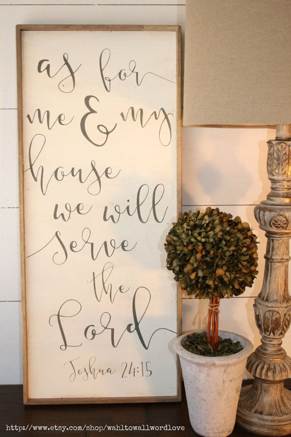 As for me and my house, we will serve the Lord | wood scripture sign | distressed sign | Joshua 24:15 | handpainted | custom | rustic sign
