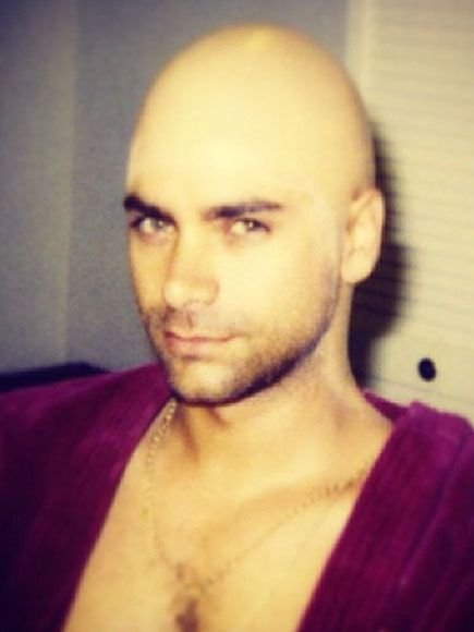John Stamos Posts Bald Cap Picture to Instagram. Even wearing a bald cap he looks mighty fine.