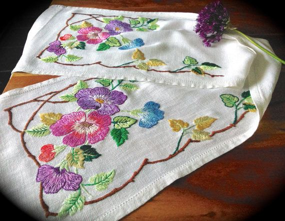 Check out this item in my Etsy shop https://www.etsy.com/uk/listing/385161070/hand-embroidered-floral-vintage-linen