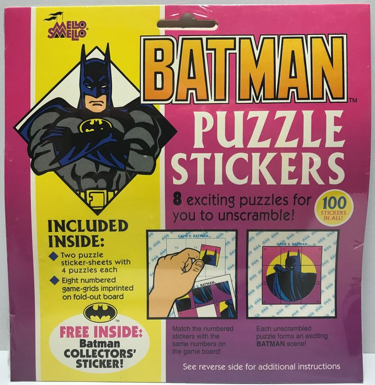 The Angry Spider has the best toys: TAS037740 - 1992 ...  Take a look: http://theangryspider.com/products/tas037740-1992-mello-smello-dc-comics-batman-puzzle-stickers?utm_campaign=social_autopilot&utm_source=pin&utm_medium=pin