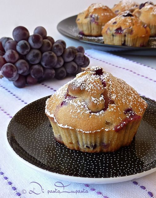Muffins all'uva fragola