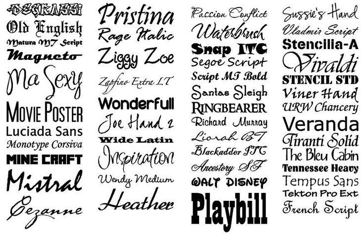Mooi lettertype uitkiezen