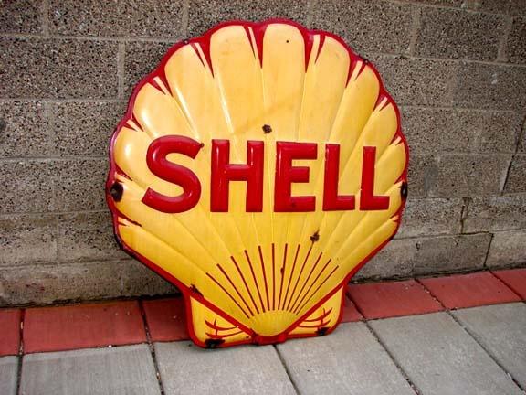 Antique Shell Gasoline Porcelain Signs