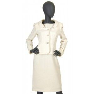 Moschino - sukienka z żakietem ecru