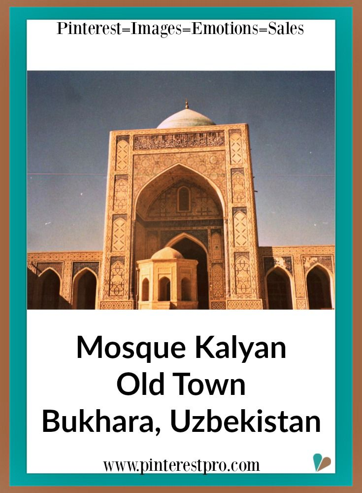 Bukhara, Uzbekistan, has so many historical monuments that travelers can visit. One of them is the Mosque Kalyan in Old Town. Such beautiful and unique architecture.That is your  tip - for Pinterest tips, click on pin to receive our Pinterest eNewsletter.