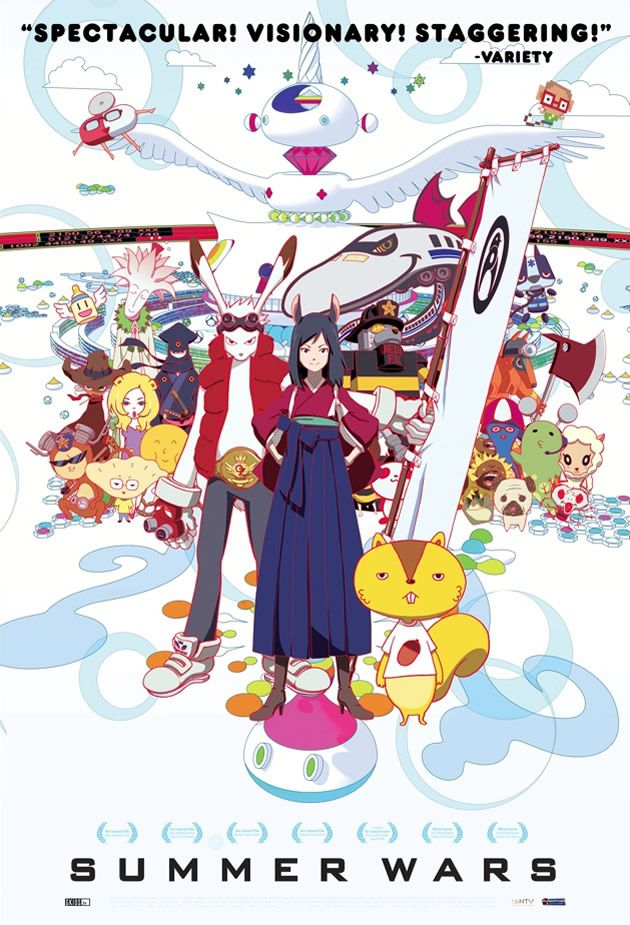"""So here... I am going to review """"Summer Wars"""" for all of you because you should watch it... So around three months ago i got this out at the library and I never watched it up until last night ..... And yes it was wayyyy over due so i had to... And I want you to know that it was really good and inspiring, at first it is like blahhh but in the end it showcases how families can accomplish so much if they just work together!! (≧▽≦) watch it!!"""