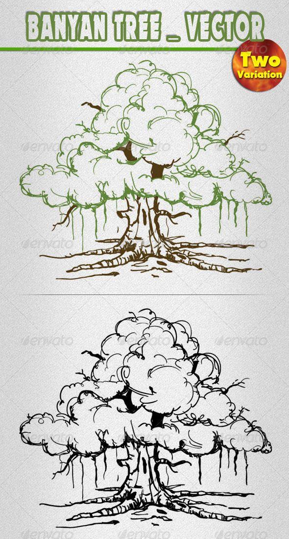 Banyan tree pinterest drawings sketches and illustrations