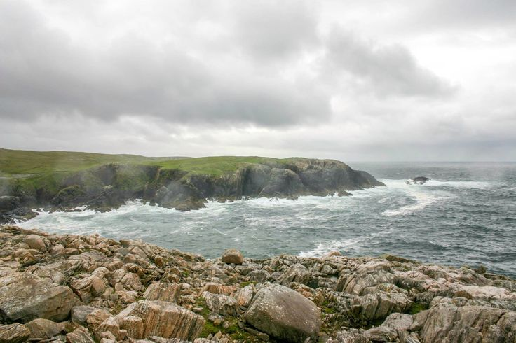 Dramatic Atlantic Ocean coastline at Uig on the Isle of Lewis in the Outer Hebrides, Scotland.