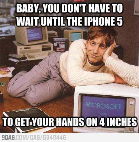 Dreamy Bill Gates On Apples Announcement.