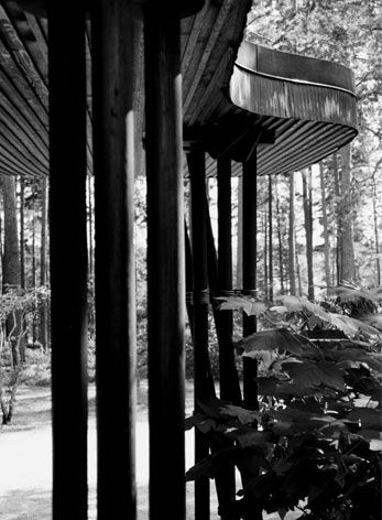 The curve of the Villa Mairea entrance. The house is by Alvar Aalto.  alvar aalto: villa mairea in noormarkku by alvar aalto