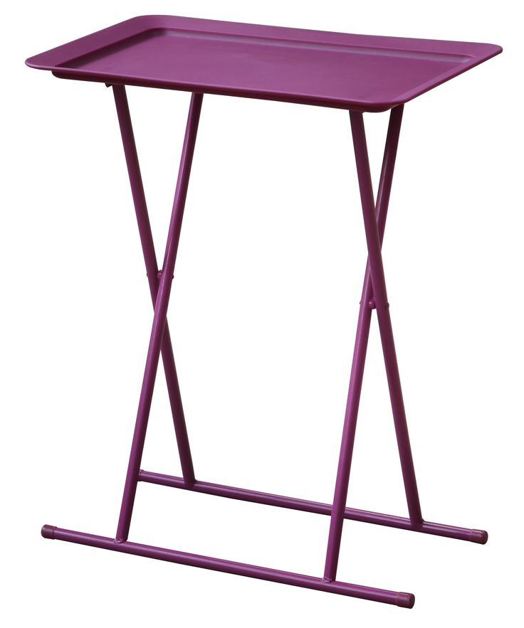 Nell Folding Snack Table with Plastic Tray