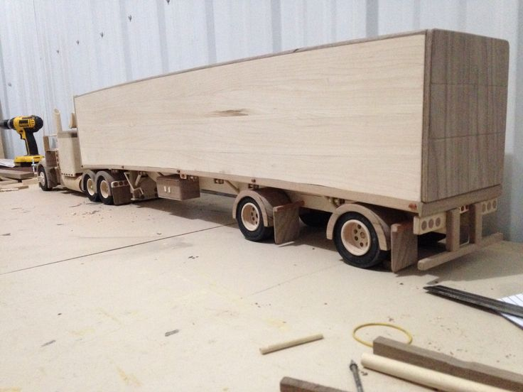 60 best wooden toy trucks images on pinterest for Wood floor for 379 peterbilt